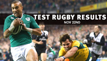 Test Rugby Results - November 22nd weekend