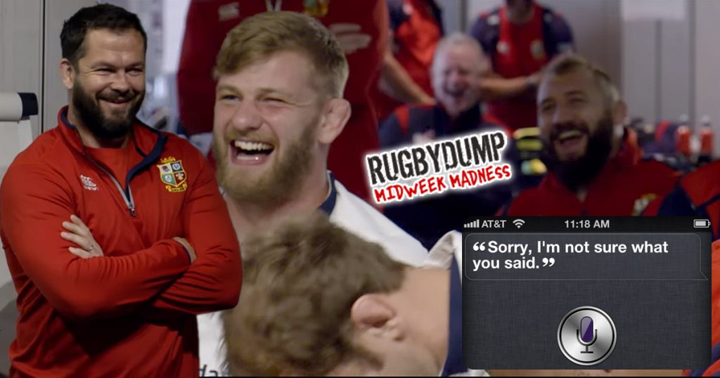 Midweek Madness: Andy Farrell's priceless reaction as SIRI interrupts Lions team meeting
