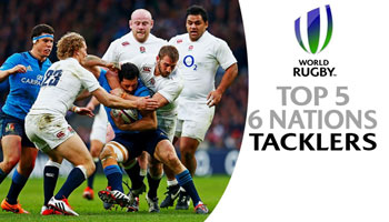 The Biggest Tacklers in the Six Nations after the first two rounds