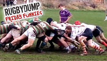 Friday Funnies - Flanker gets away with sneaky slap at scrum