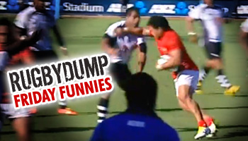 Friday Funnies - Sona Taumalolo fend looks like a right hook
