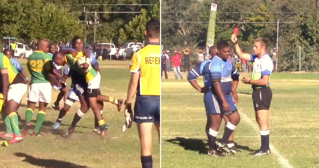 Referee describes this horrendous spear tackle as the worst he's ever seen