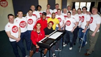 Rugby Choir sing with JLS for Sport Relief 2012