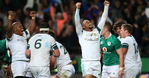 Springboks clinch series victory with tense win over Ireland in deciding Test