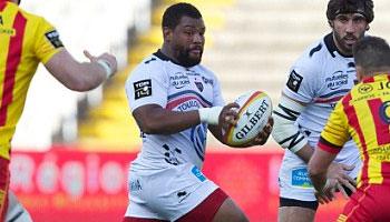 Steffon Armitage's powerful fend try against Perpignan