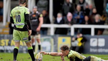 Stephen Myler slots conversion with help of powerful wind