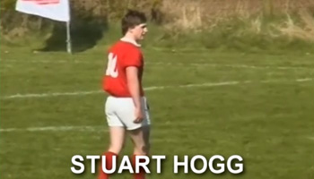 Perhaps the rarest and earliest video of Stuart Hogg in action, aged 16