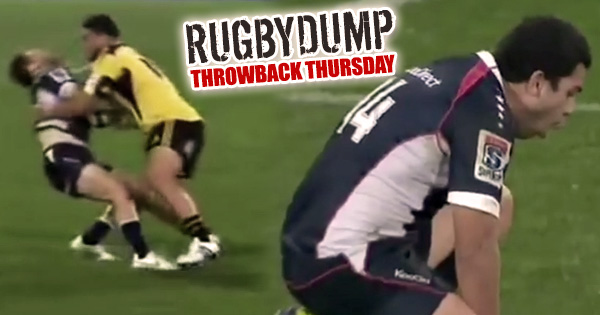 Throwback Thursday - Motu Matu'u demolishes two Melbourne Rebels players in 2012