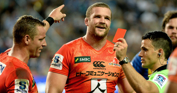 Sunwolves lock Tim Bond suspended for 4 weeks for dangerous tackle