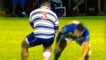 'Tongan Thor' Taniela Tupou sets up try after big fend in club game