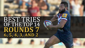 The Best Tries in the Top 14 - All from the last Six Rounds