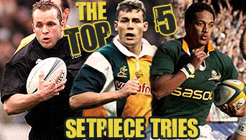 Rugby HQ's Top 5 Set Piece Tries of all time
