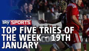 Sky Sports' Top Five Tries of the Week - 19 Jan 2015