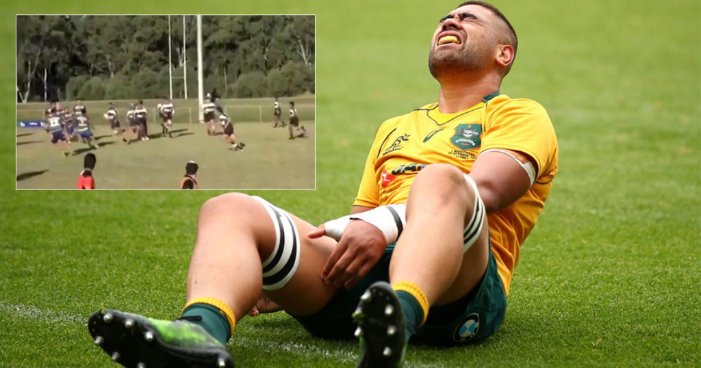 That time Wallaby Lukhan Tui got demolished in reserve grade club rugby