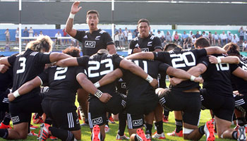 Touching Haka from Under 20's in honour of fallen hero Jerry Collins