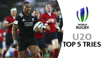 The Top 5 Best Tries at the U20 World Championship on Day One