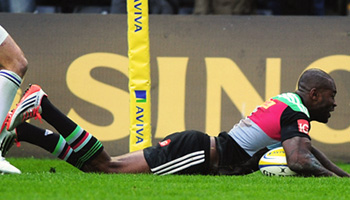 Ugo Monye scores two great tries in final home game for Harlequins