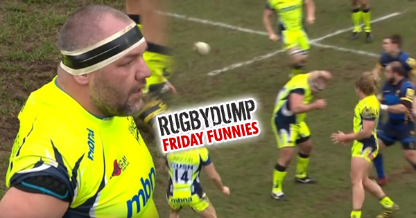 Friday Funnies - Prop Vadim Cobilas can't avoid up and under!