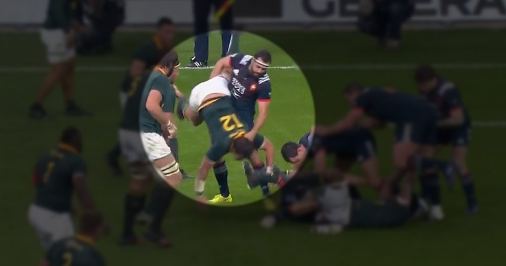 French centre goes unpunished after doing this to lucky Springbok