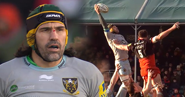 Victor Matfield's perfectly executed one handed lineout take against Saracens