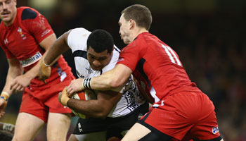Wales stutter to victory over 14 man Fiji in Cardiff