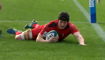 Wales Under-20 Dafydd Howells scores fastest try in international rugby