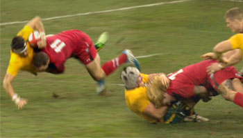 George North and Richard Hibbard huge hits in lead up to Israel Folau try