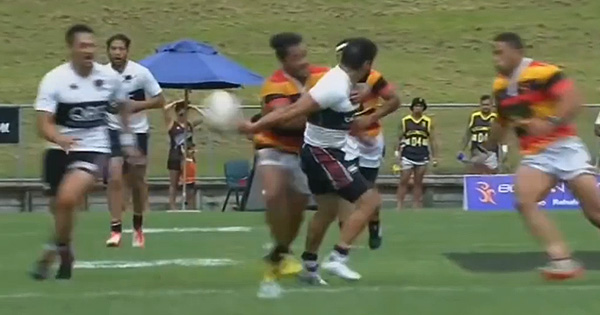Midweek Madness - Whiria Meltzer's incredible flick pass sets up great 7s try