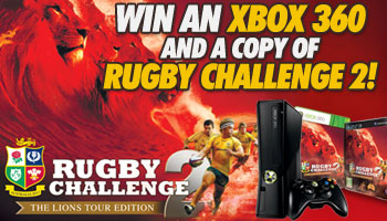 WIN an Xbox 360 console and copy of Rugby Challenge 2!