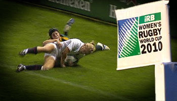 Incredible try saving tackle by Australia's Nicole Beck at the WRWC