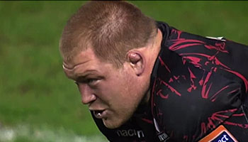 Edinburgh Prop WP Nel scores great 40m try against Leinster