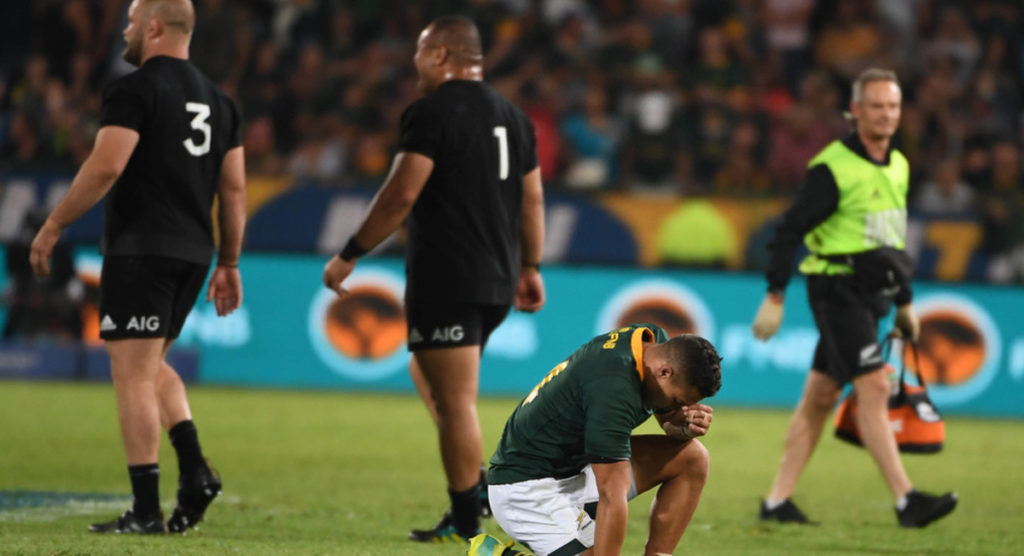 All Blacks snatch victory at the death in another classic battle with the Springboks