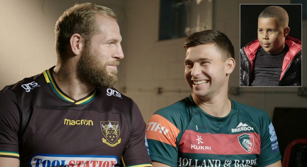 James Haskell and others get grilled by cheeky youngster in promo for Rob Horne fundraiser