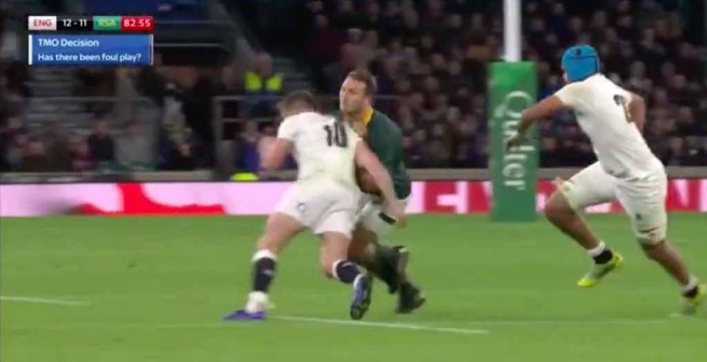 Owen Farrell puts in match-winning hit against South Africa