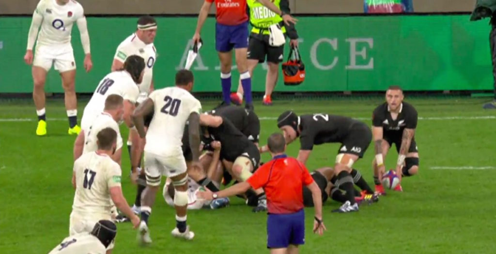 WATCH: England lose to All Blacks after tight offside call