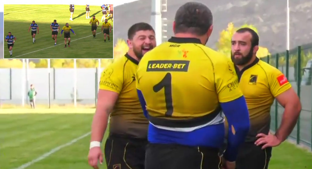 Referee has zero tolerance for front row tanks as he sends all six to the naughty corner