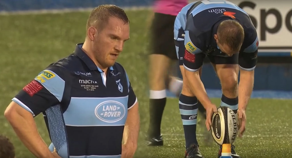 Gethin Jenkins bid farewell to rugby with a kick but first had to figure out how to use the tee