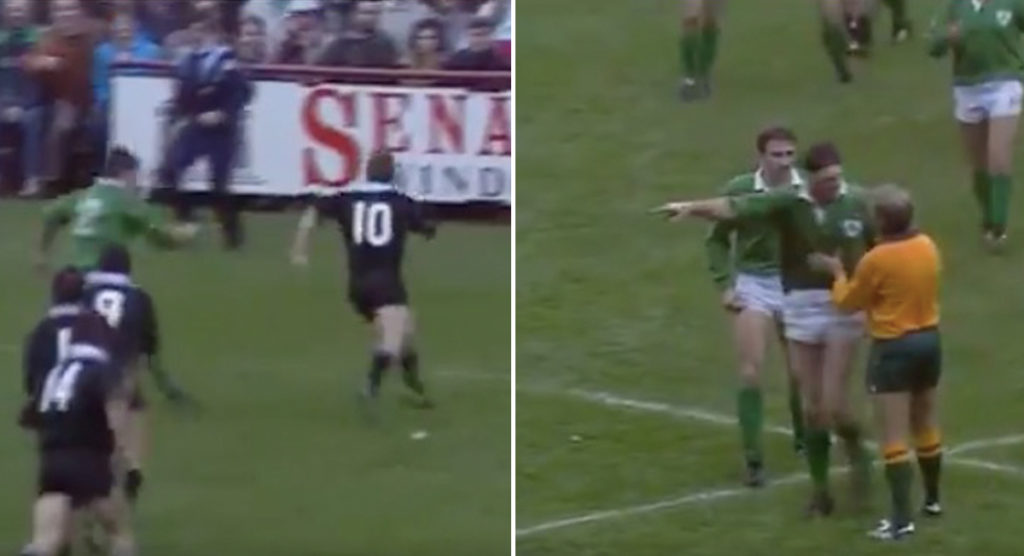 The day Grant Fox scored against Ireland but was denied by a ball boy