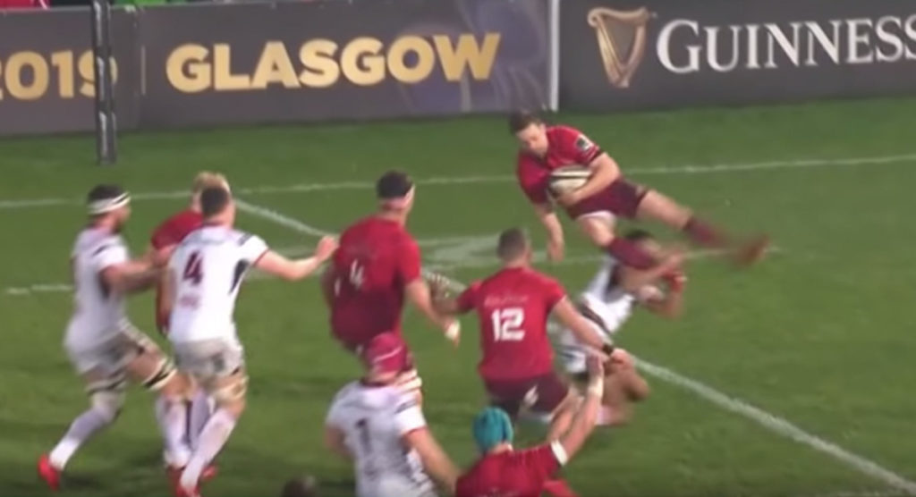 Ulster winger takes 5 seconds to get himself in the record books for foul play
