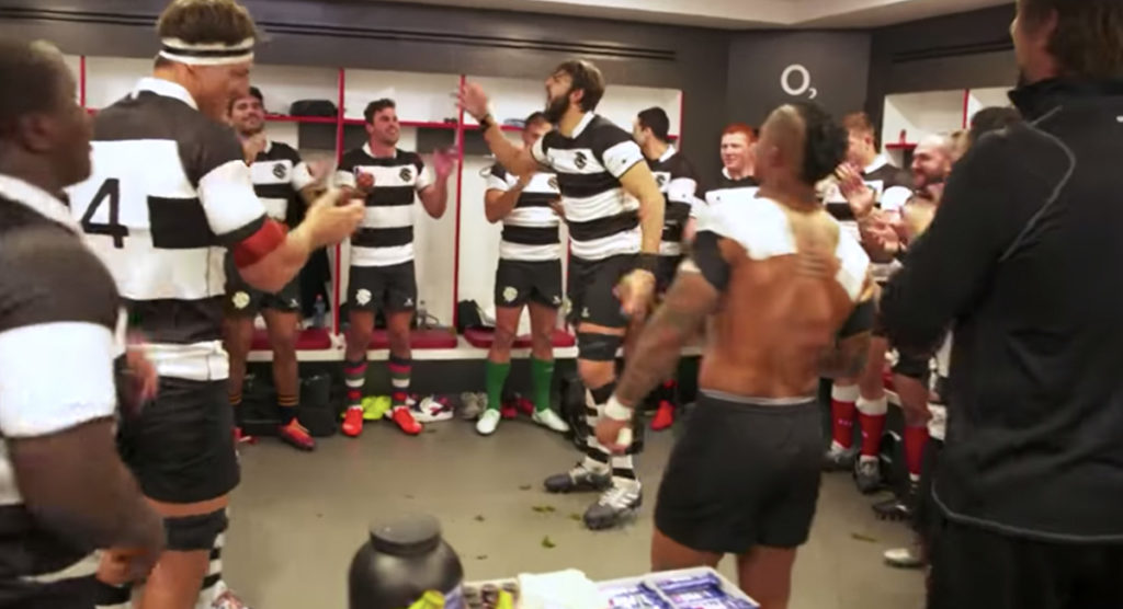 Giant Lood de Jager inspires Barbarians with hyped up pre-match song