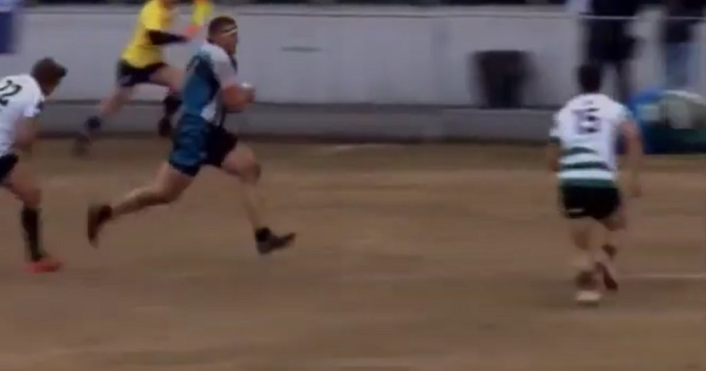 Prop can't be stopped as bullocking run results in stunning 80 metre solo try