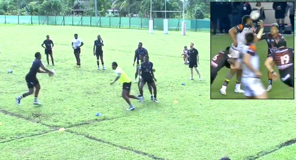 Fiji training ground footage reveals how Viliame Mata was able to throw THAT offload