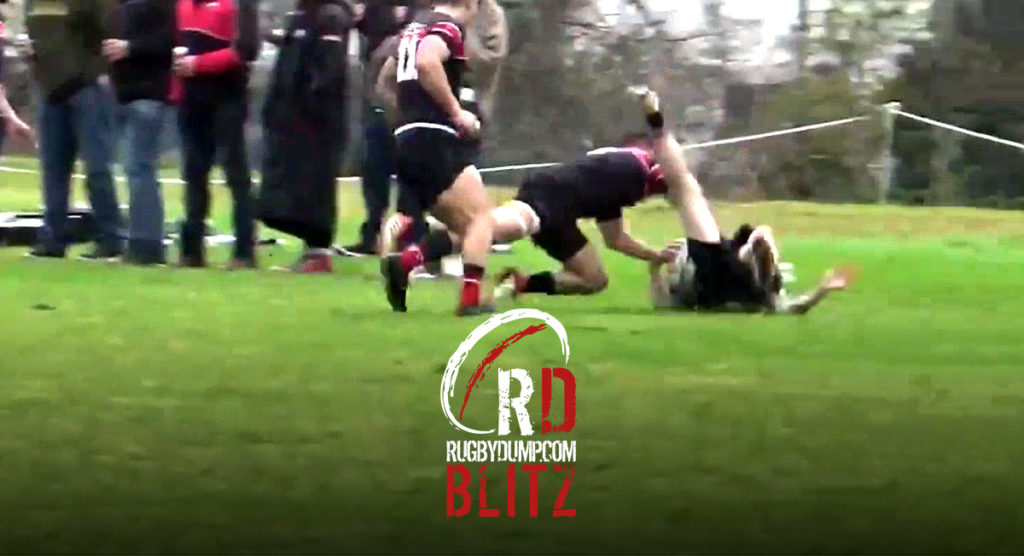RD BLITZ: Two thumping club rugby hits that might make you wince