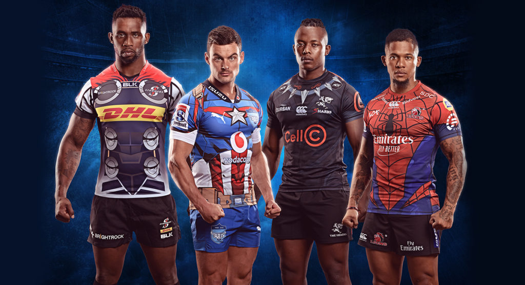 South African teams reveal Marvel inspired jerseys for Super Rugby derbies