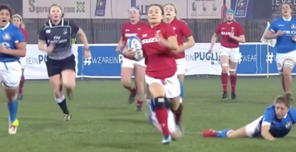 WATCH: Welsh winger has epic solo try disallowed