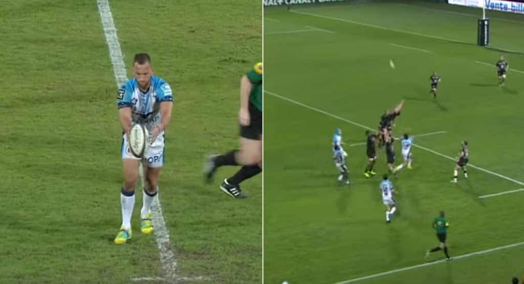 Aaron Cruden restart kick goes horribly wrong as Toulouse skill makes home crowd erupt