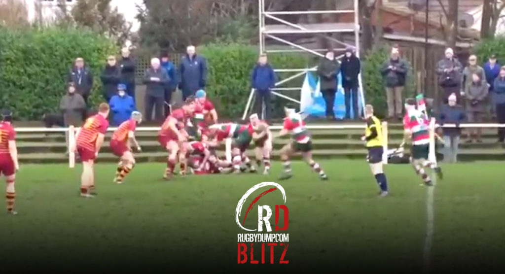 RD BLITZ: Second Row demolishes casual flanker in giant club rugby hit