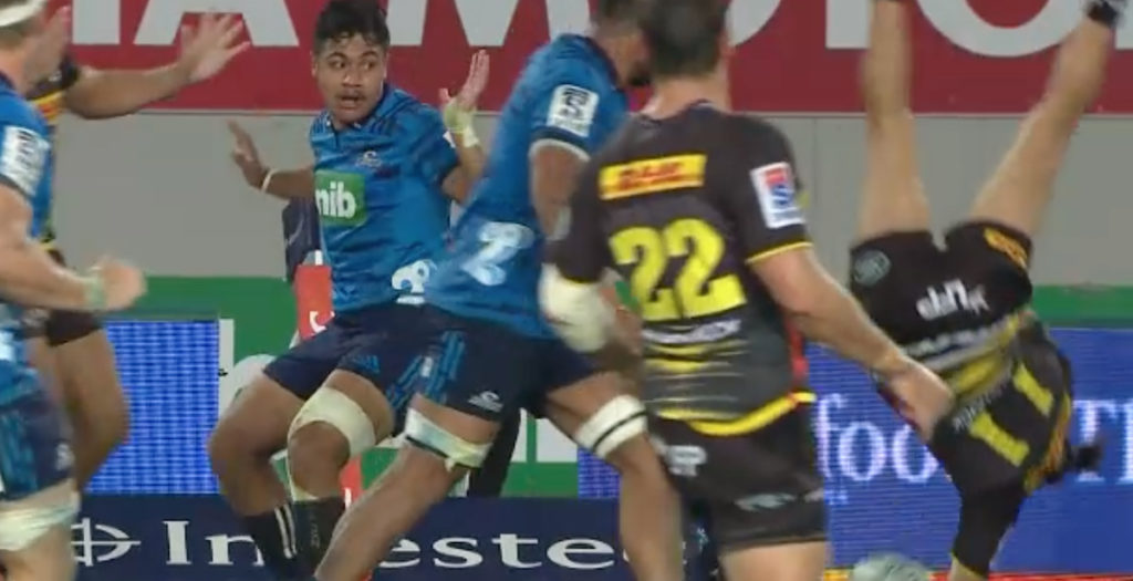 Hero to zero: Blues winger scores stunning try then gets sent off
