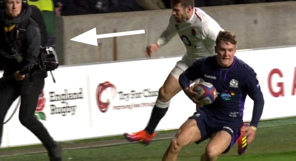 The Elliot Daly shove that enraged a lot of viewers on Saturday