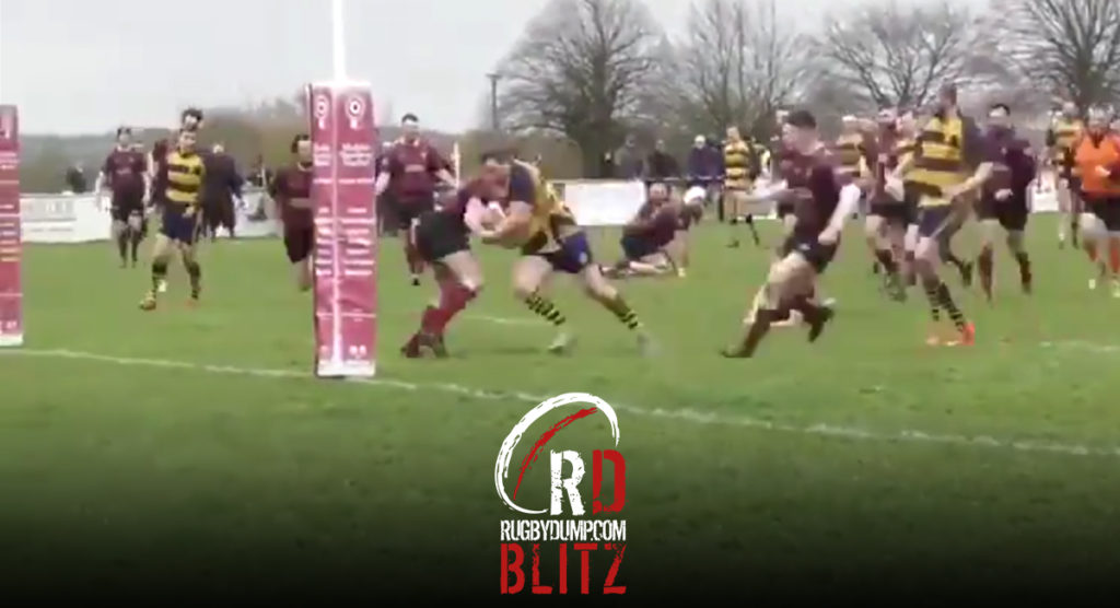 Hefty centre powers through three hapless players before meeting his match